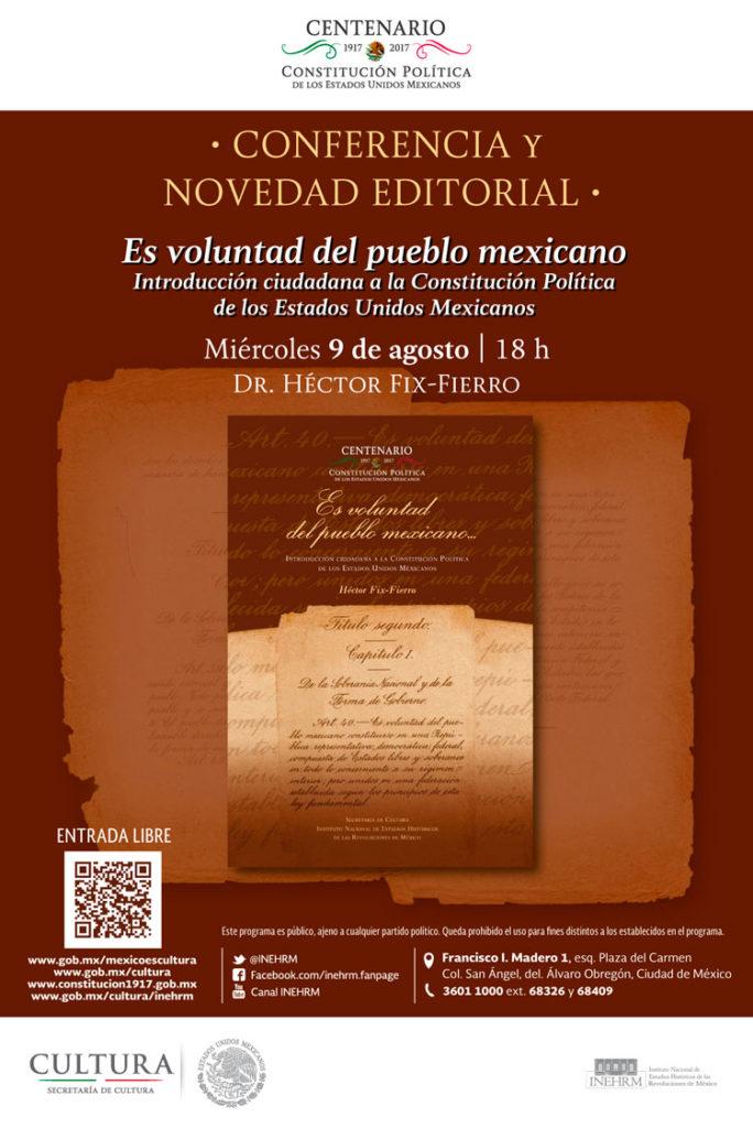 Presentarán libro de la historia constitucional de México