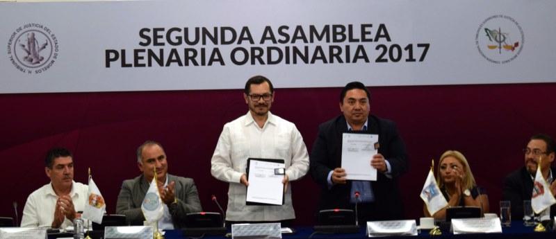 Firma de convenio CONATRIB y SESNSP