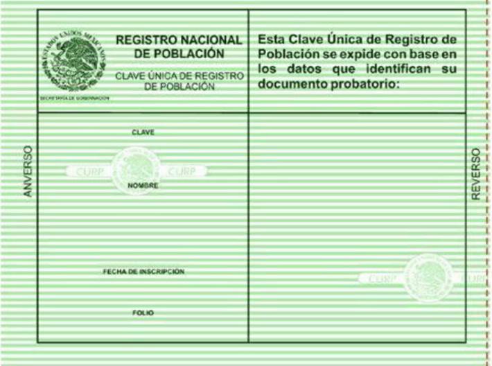 El CURP, un documentos esencial y gratuito