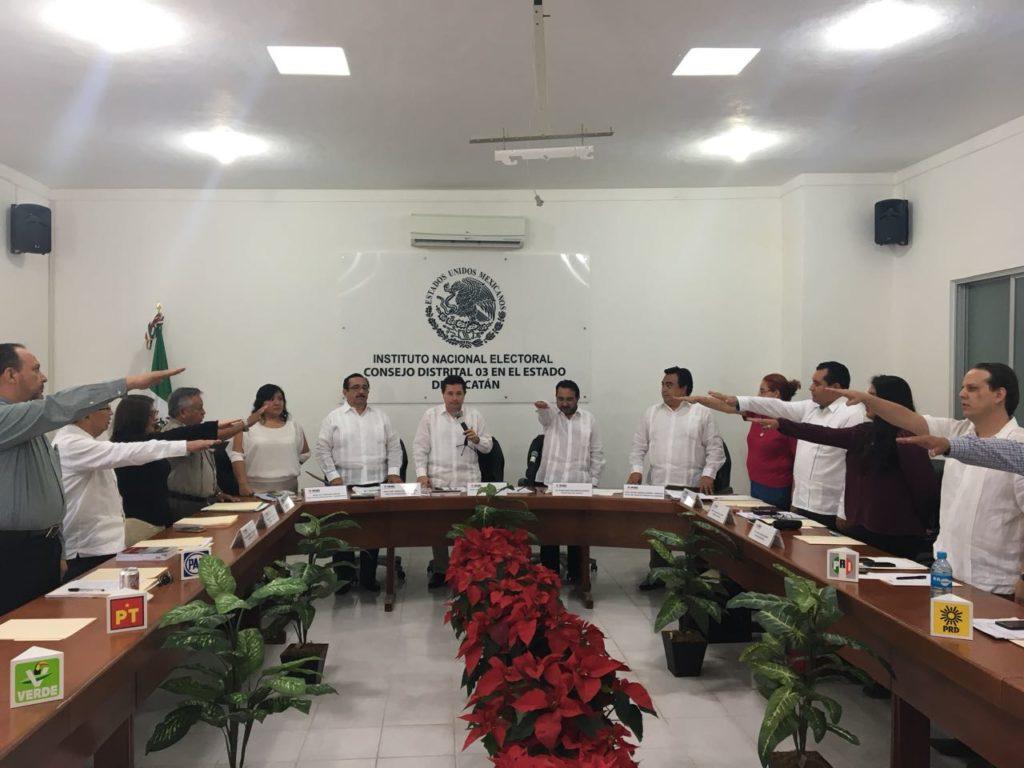 Instalan cinco consejos distritales en Yucatán
