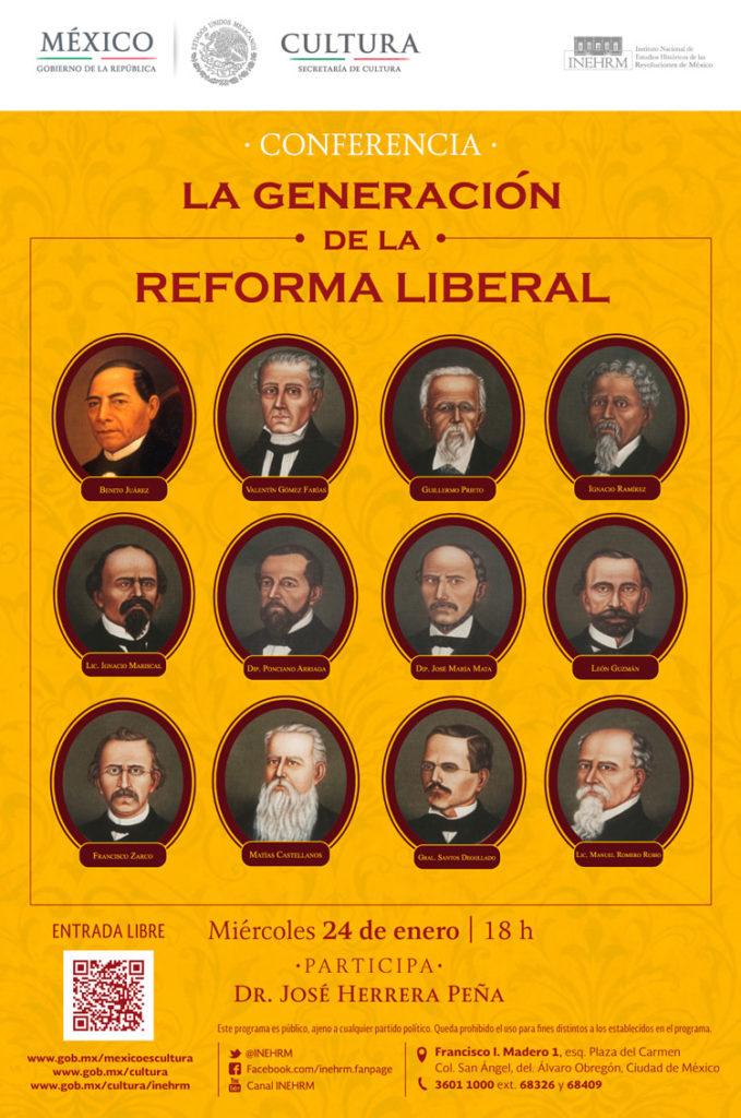 Conferencia sobre la Generación de la Reforma Liberal en el INEHRM