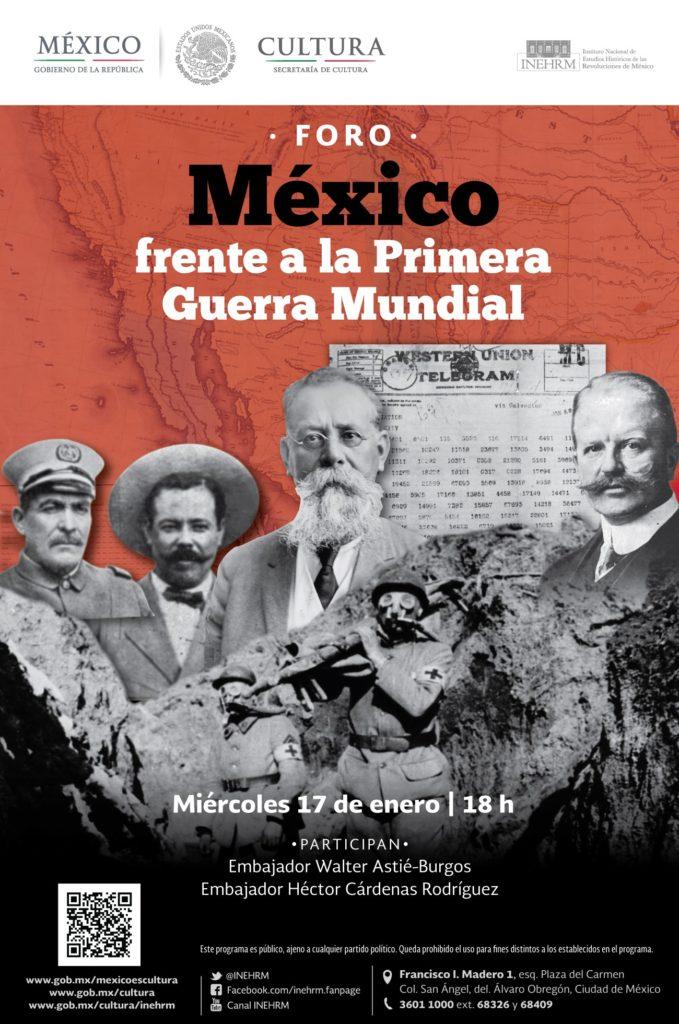 """Realizarán foro """"México frente a la Primera Guerra Mundial"""""""