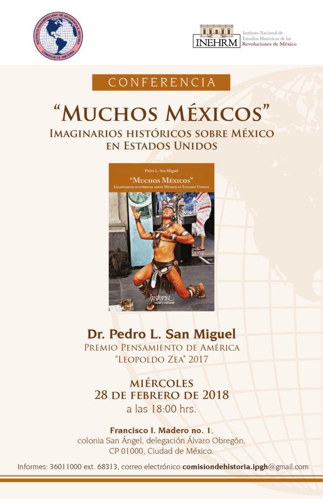 Impartirá conferencia Pedro L. San Miguel sobre imaginarios históricos de México en Estados Unidos