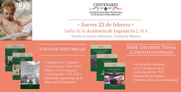 Presentarán Biblioteca Constitucional en Feria del Palacio de Minería