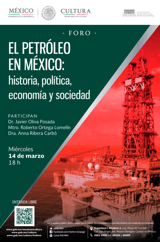 """Realizarán foro """"El petróleo en México: historia, política, economía y sociedad"""""""