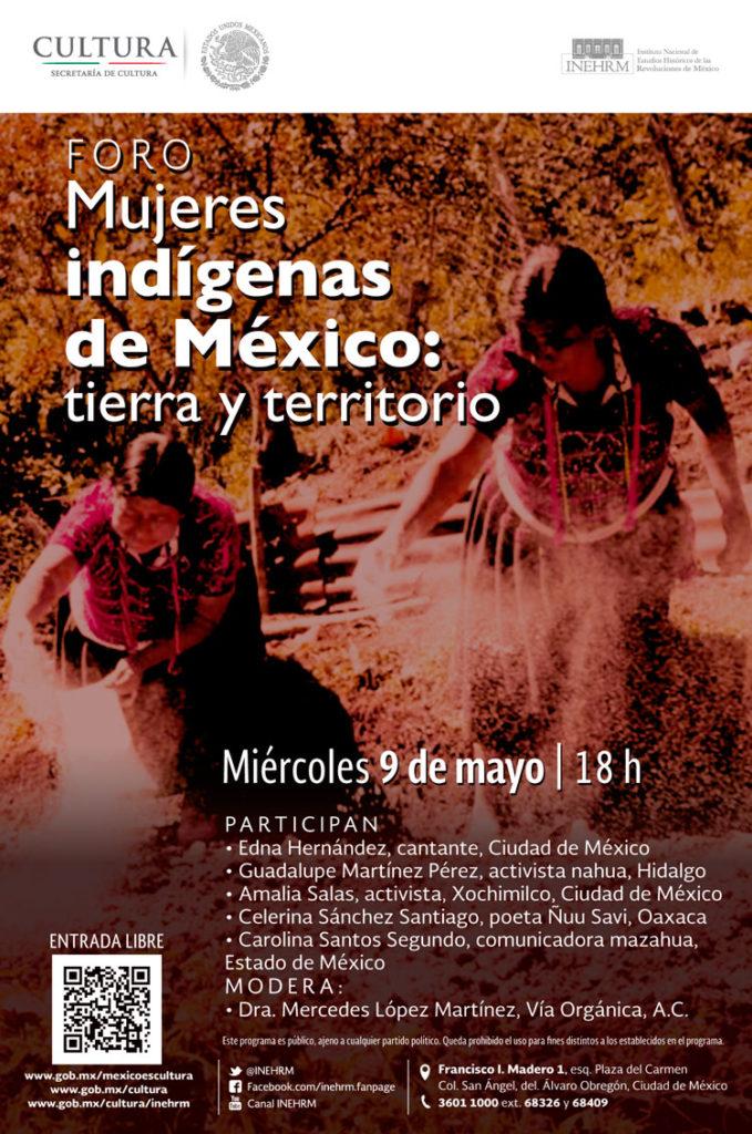Foro sobre resistencia e identidad de las mujeres indígenas en el INEHRM