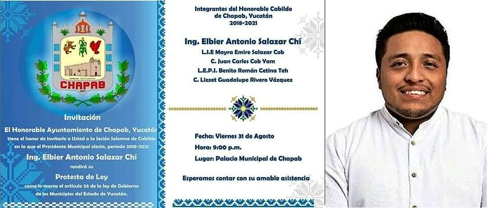 """Listo Chapab para toma de protesta del Alcalde electo """"Toño"""" Salazar"""