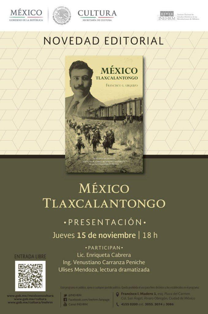 """Anuncian la presentación del libro """"México Tlaxcalantongo"""""""
