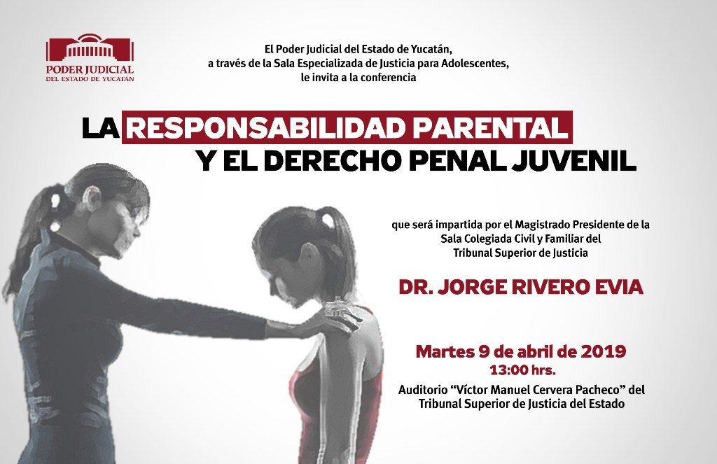 Responsabilidad parental y derecho penal juvenil, conferencia en el Poder Judicial